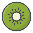 food, fruits, kiwi, sticker icon