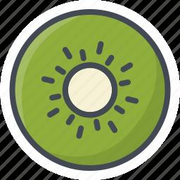 food, fruits, kiwi, sticker icon
