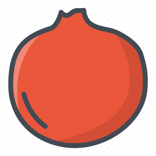 food, fruits, pomegranate, sticker icon