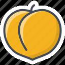 food, fruits, peach, sticker icon
