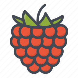 blackberry, food, fruits, sticker icon
