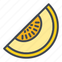food, fruits, melon, sticker icon