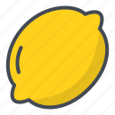 food, fruits, lemon, sticker icon
