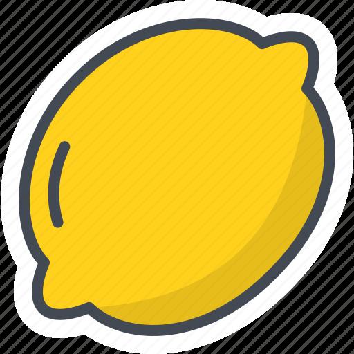 food, fruits, lemon, sticker icon