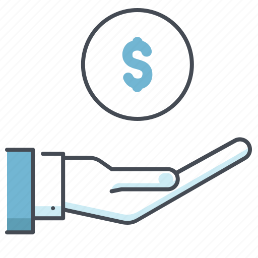 accounting, care, dollar, economy, finance, money in hand, savings icon