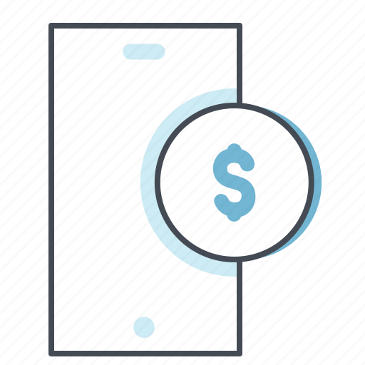 balance, cash, dollar, finance, mobile, money, payment icon