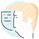 avatar, business, finance, money, speaker, speaking, thought icon
