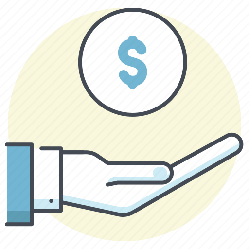 accounting, business, care, cash, dollar, finance, money in hand icon