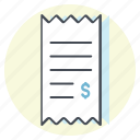 accounting, bill, business, cash, dollar, money, receipt icon