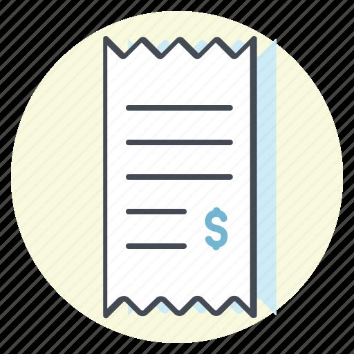 accounting, bill, business, cash, dollar, money, receipt icon