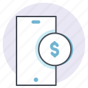 cash, dollar, finance, net banking, online, payment, transaction icon