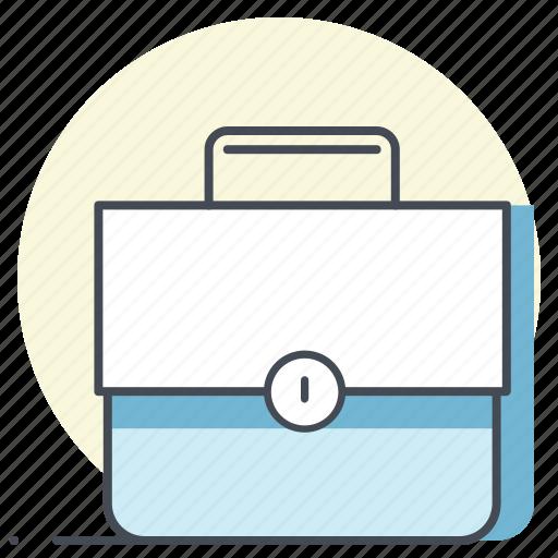 briefcase, case, money, paper, portfolio, resume, work icon