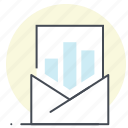analysis, business, email, graph, mail, marketing, report icon