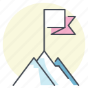 achieve, aim, climb, goal, mountain, success, target icon