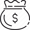bag, business, cash, dollar, finance, money icon