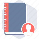 account, book, contact, contacts, diary icon