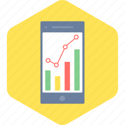 analysis, graph, mobile icon