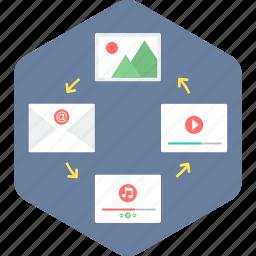 business, content, management icon