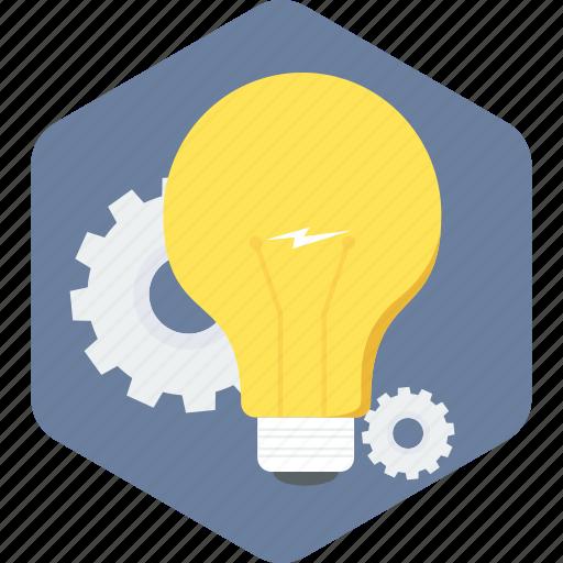 bulb, creative, idea, light icon