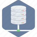 database, information, server, storage icon