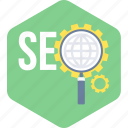 marketing, optimization, search, seo, web icon