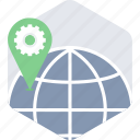 gps, location, navigation, seo icon