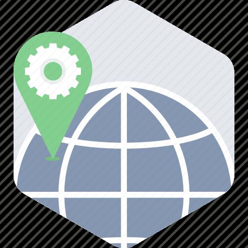 gps, location, navigation, seo icon
