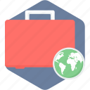 briefcase, package, seo icon