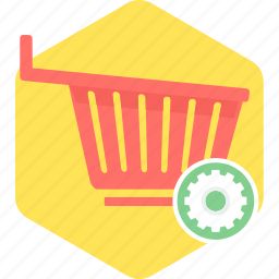 basket, cart, empty, sale, shopping, trolley icon