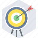 aim, arrow, bullseye, center, goal, shoot, target icon