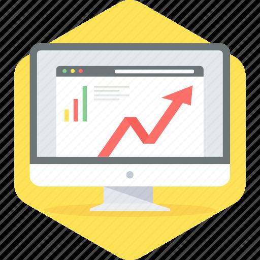 analysis, chart, graph, web icon