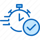 approval, clock, loan, payday, timer icon