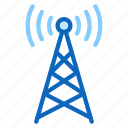 cell, nfc, radio, signal, tower icon