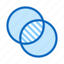 exposure, blend, double, interference icon