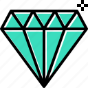 diamond, premium, quality, shine icon