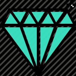 diamond, premium, quality, shine icon