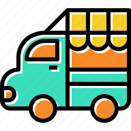 food, sell, street, truck icon