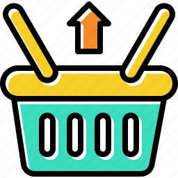 basket, item, retail, return, store icon