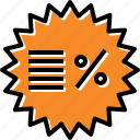 disount, label, percent, sale icon