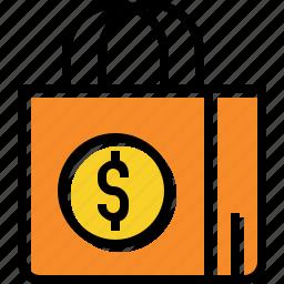 bag, buy, paper, retail, shop, shopping icon