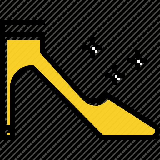 heel, high, shoe, women icon
