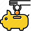 bank, coin, piggy, saving icon