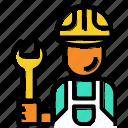 avatar, customer, engineer, man, service, techincian icon
