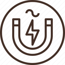 badge, education, electromagnetics, logo, science icon