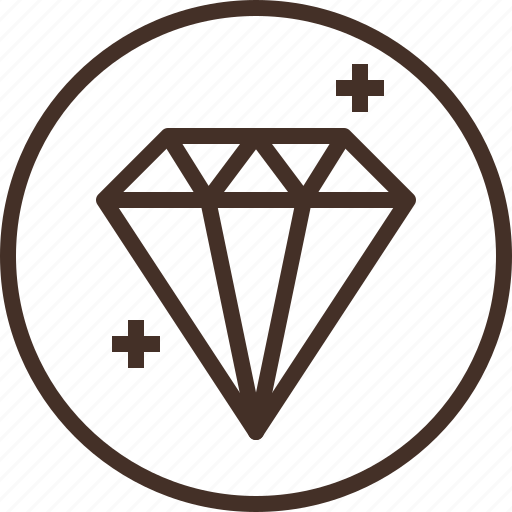 badge, education, gemology, logo, science icon