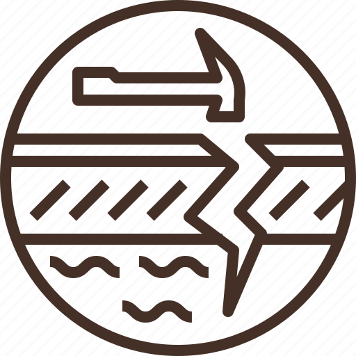 badge, education, geology, logo, science icon