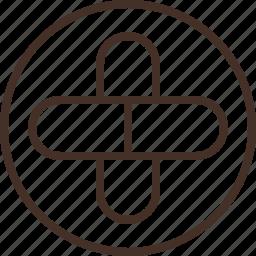 badge, education, logo, medicine, science icon
