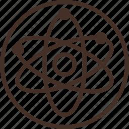 badge, education, logo, physics, science icon