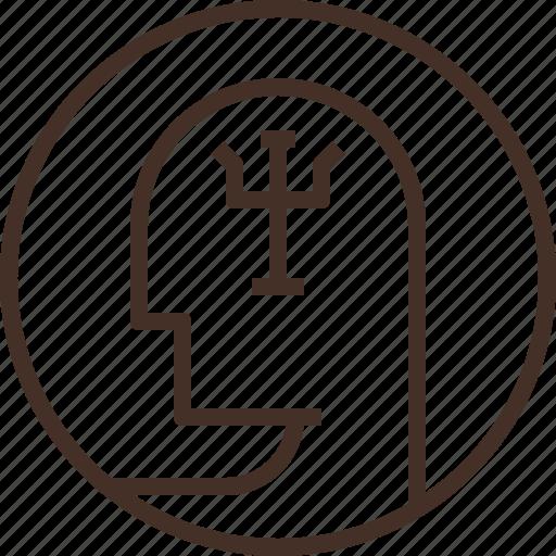 badge, education, logo, psychology, science icon