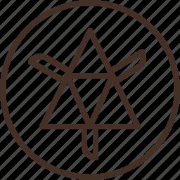 badge, education, logo, science, thermodynamics icon